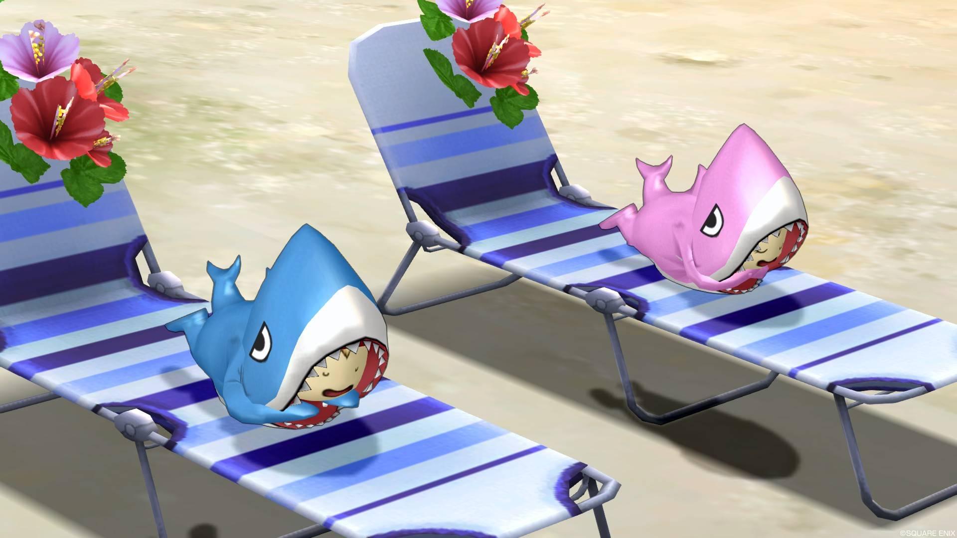 サメきぐるみ-寝る