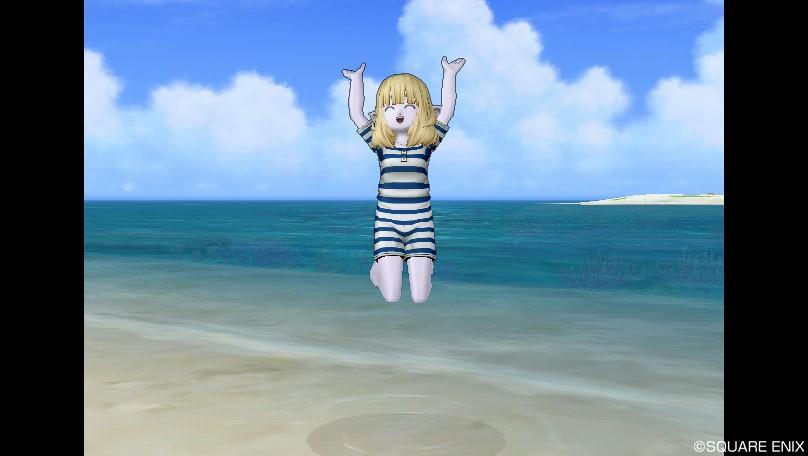 エル子_レトロな水着2