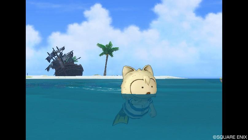 プクリポ男の泳ぎ方が犬かき1