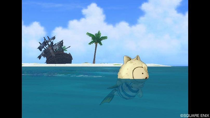 プクリポ男の泳ぎ方が犬かき2