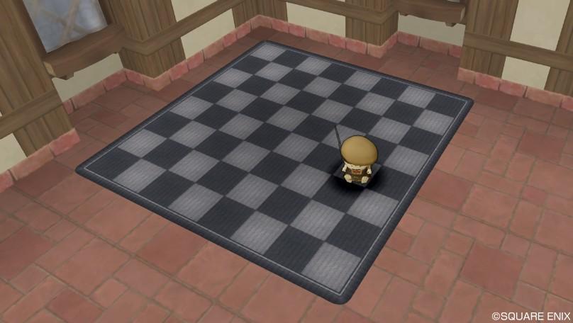 チェスボードラグ・黒