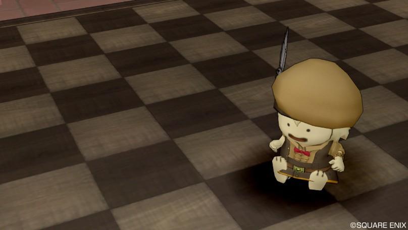 チェスボードラグ・茶2