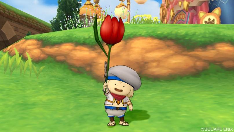赤色チューリップ傘
