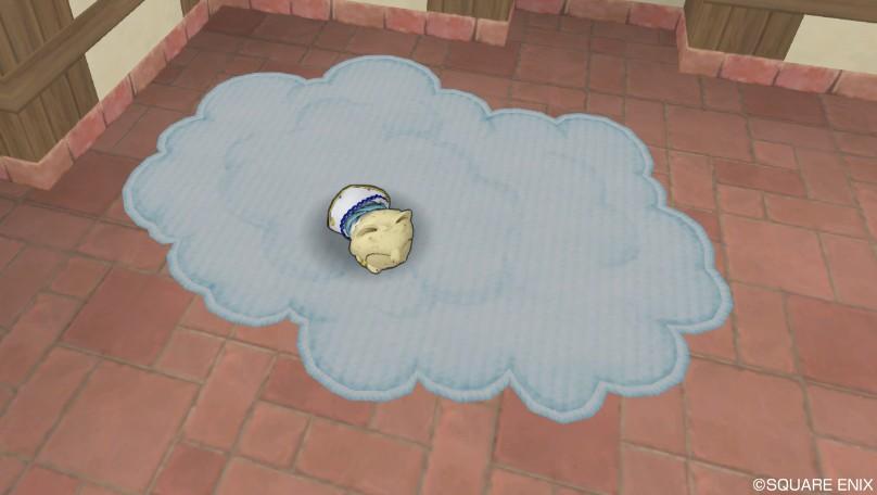 ふわふわ雲のラグ