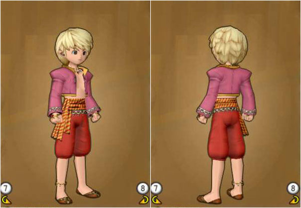 Lv80_舞い手の服セット人間子供男