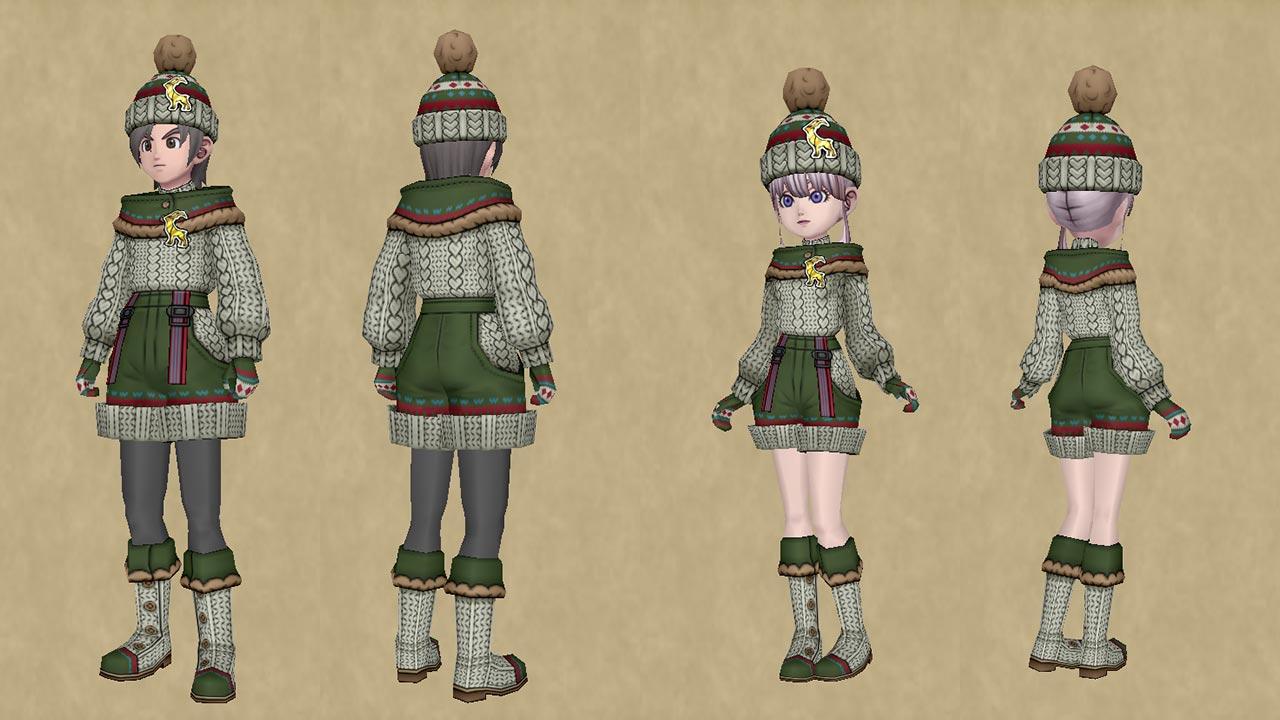 手編みのセーターセット-人間