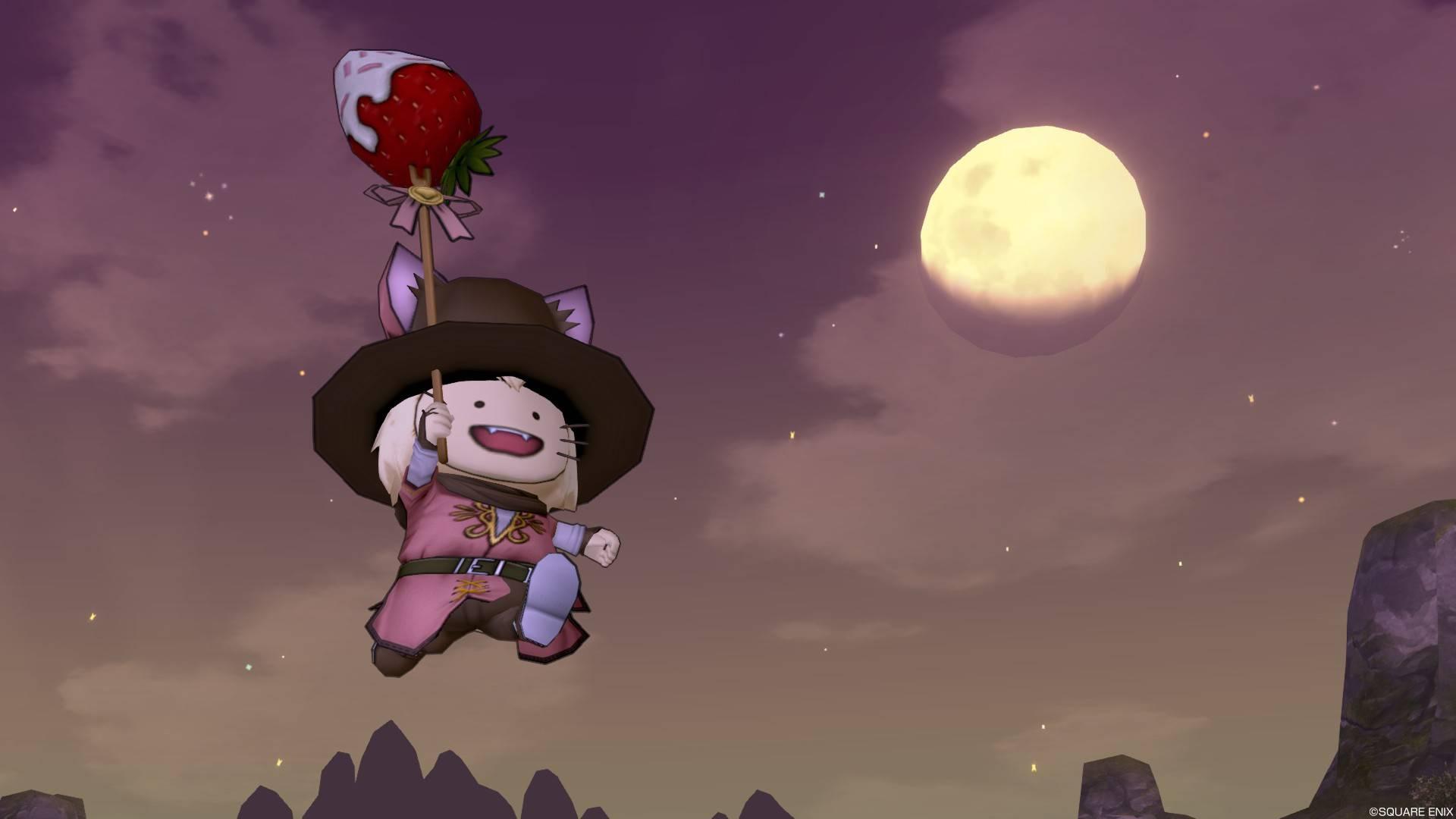 セレドット山道の日の暮れ 月をバックにジャンプ