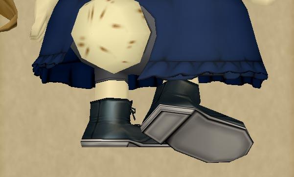 クマリスのブーツ詳細2-靴裏