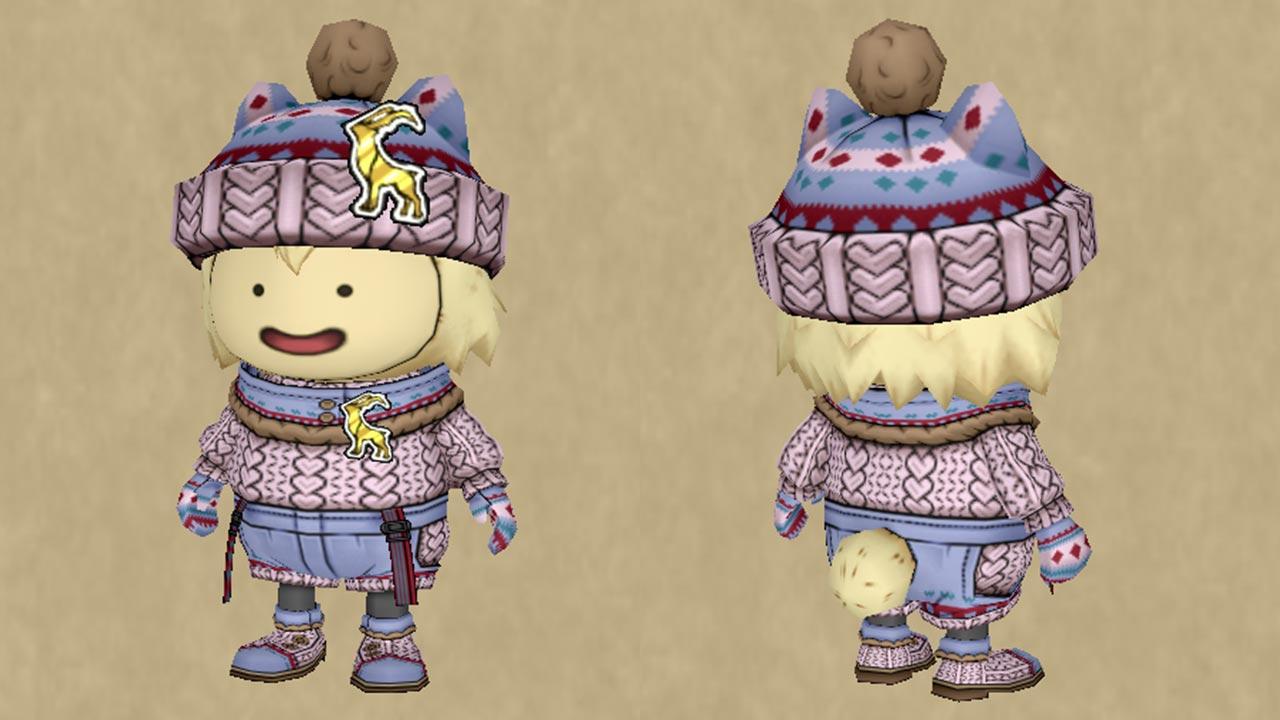 手編みのセーターセット-カラーリングできるところ
