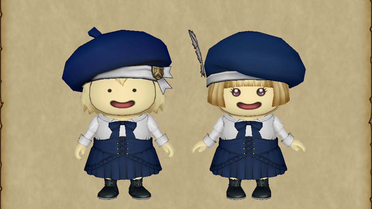 DQX クマリスのブラウスセット+ベレー帽