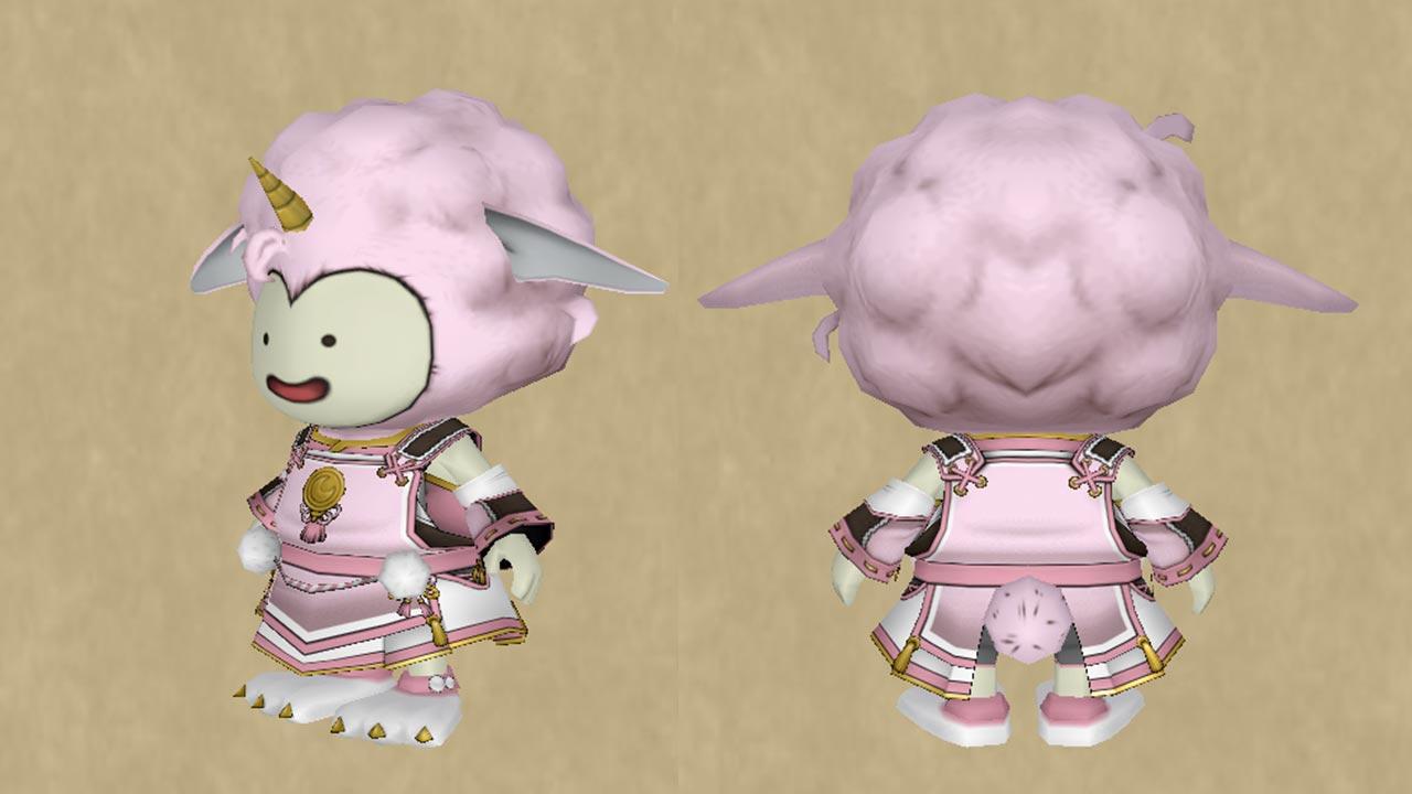 ウサギ魔物の装束セット-アフロ