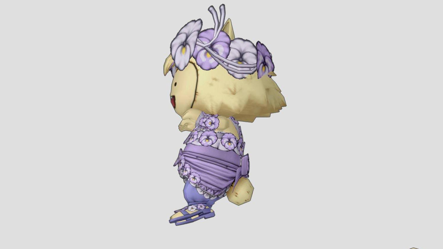 パンジーのかんむり-前髪