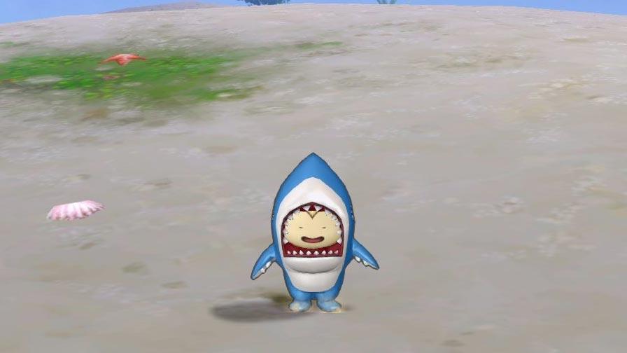 サメきぐるみ-くるりんジャンプ2