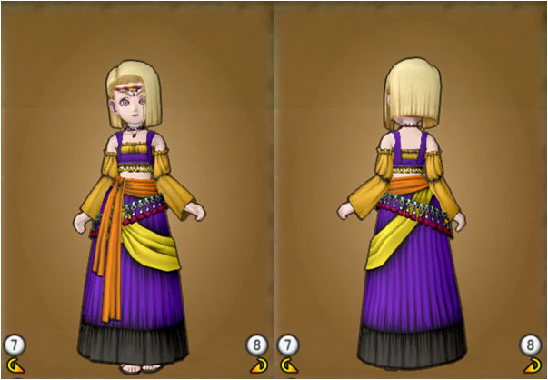 Lv30_踊り子のドレスセット_人間子供女