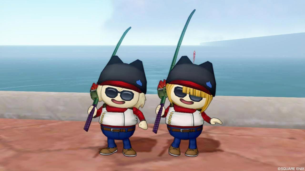 DQXレンタル衣装-釣り師の衣装(プクリポ)