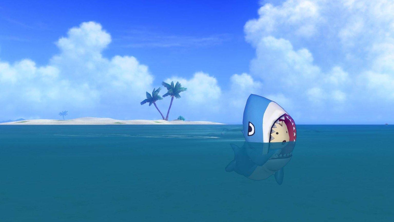 サメきぐるみ-泳ぐプクリポ