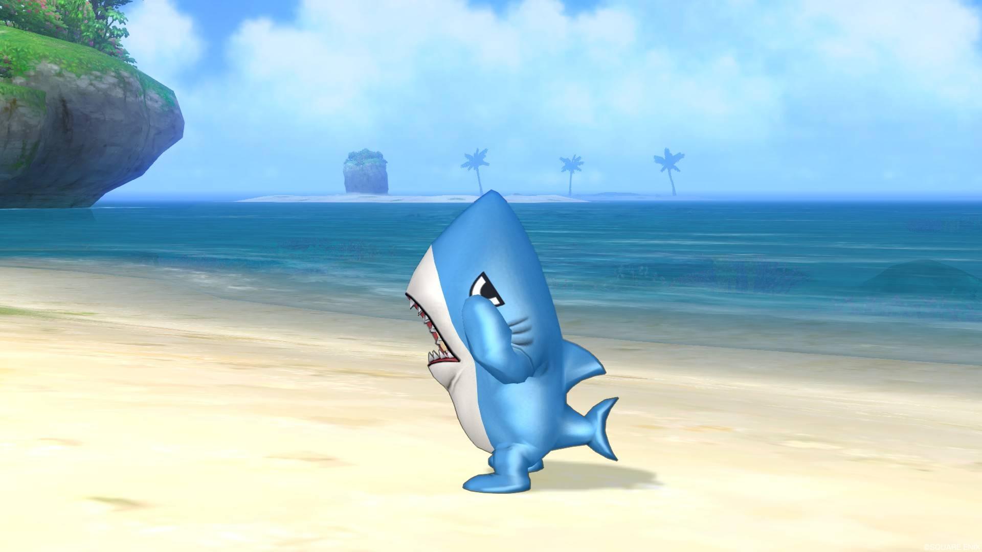 サメきぐるみ-泣かないで