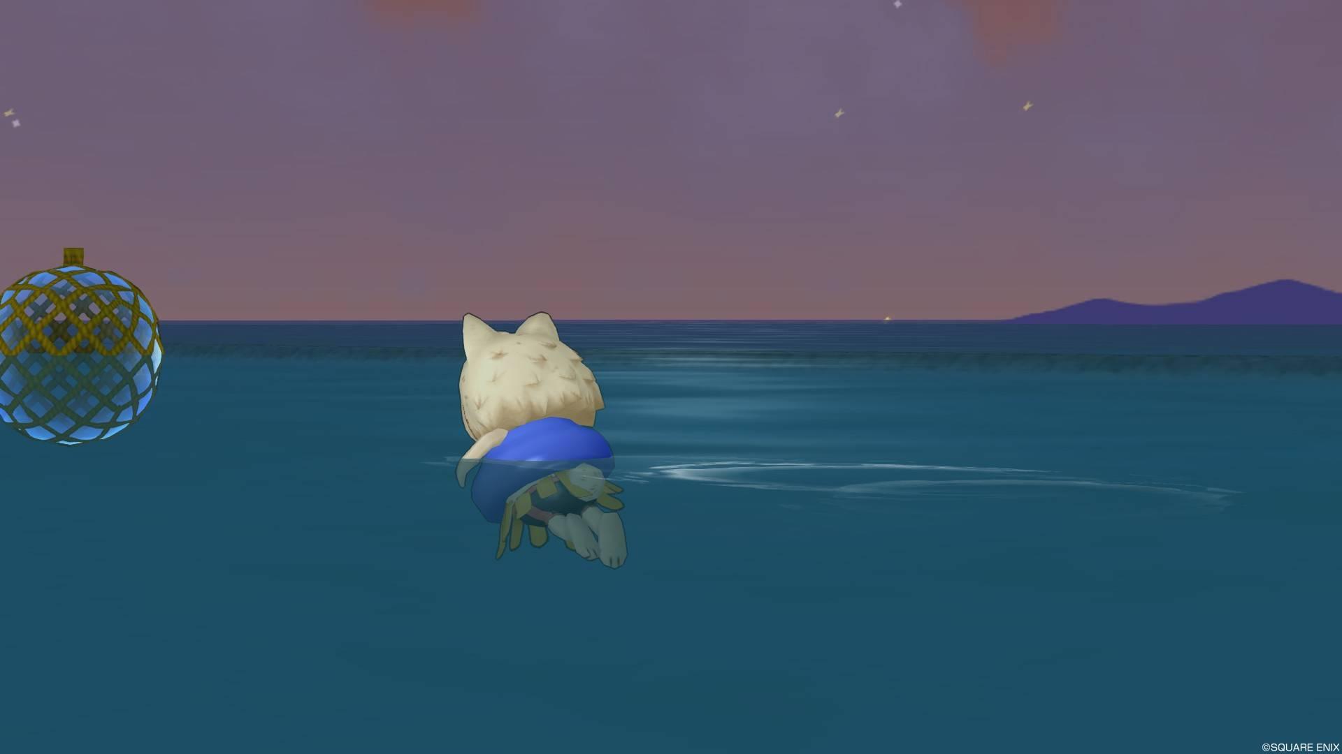 ホイミスライ浮き輪-水中3