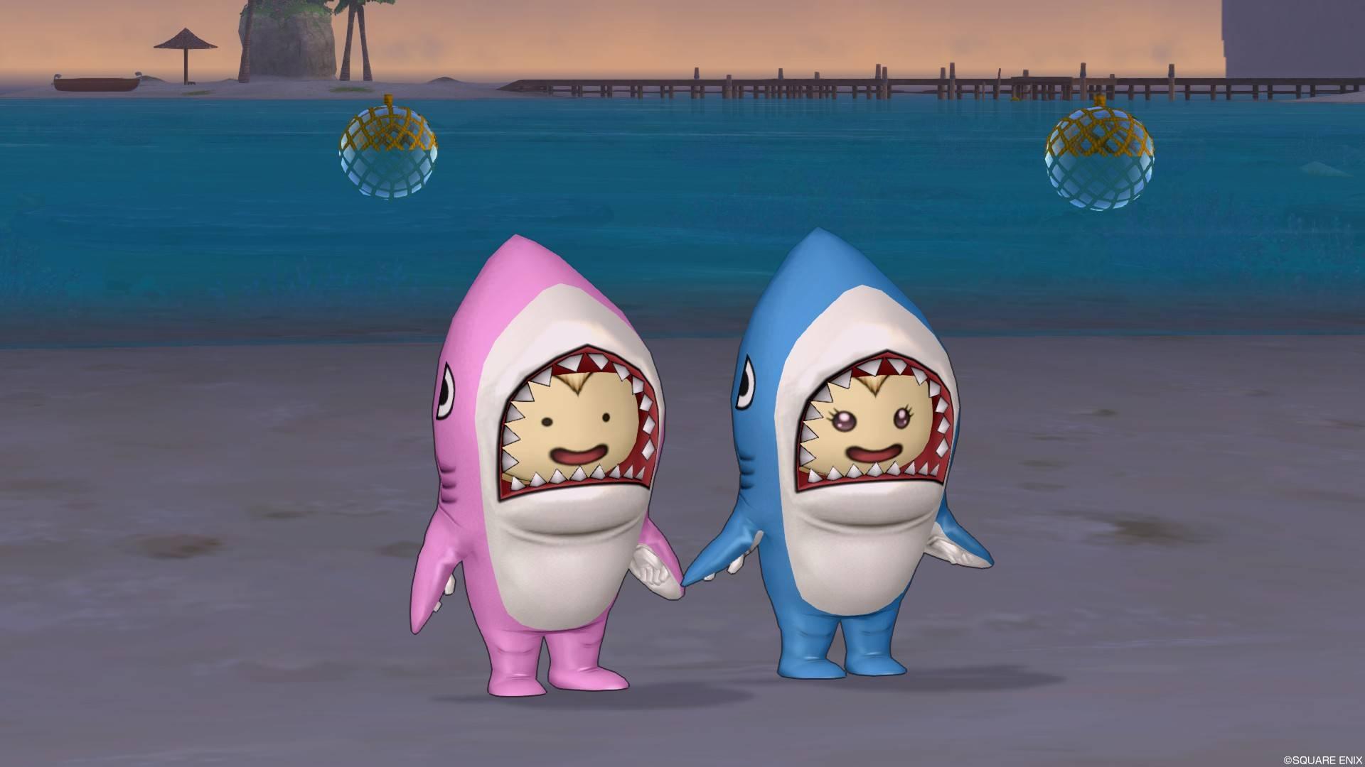サメきぐるみ-青も桃もどちらもOK