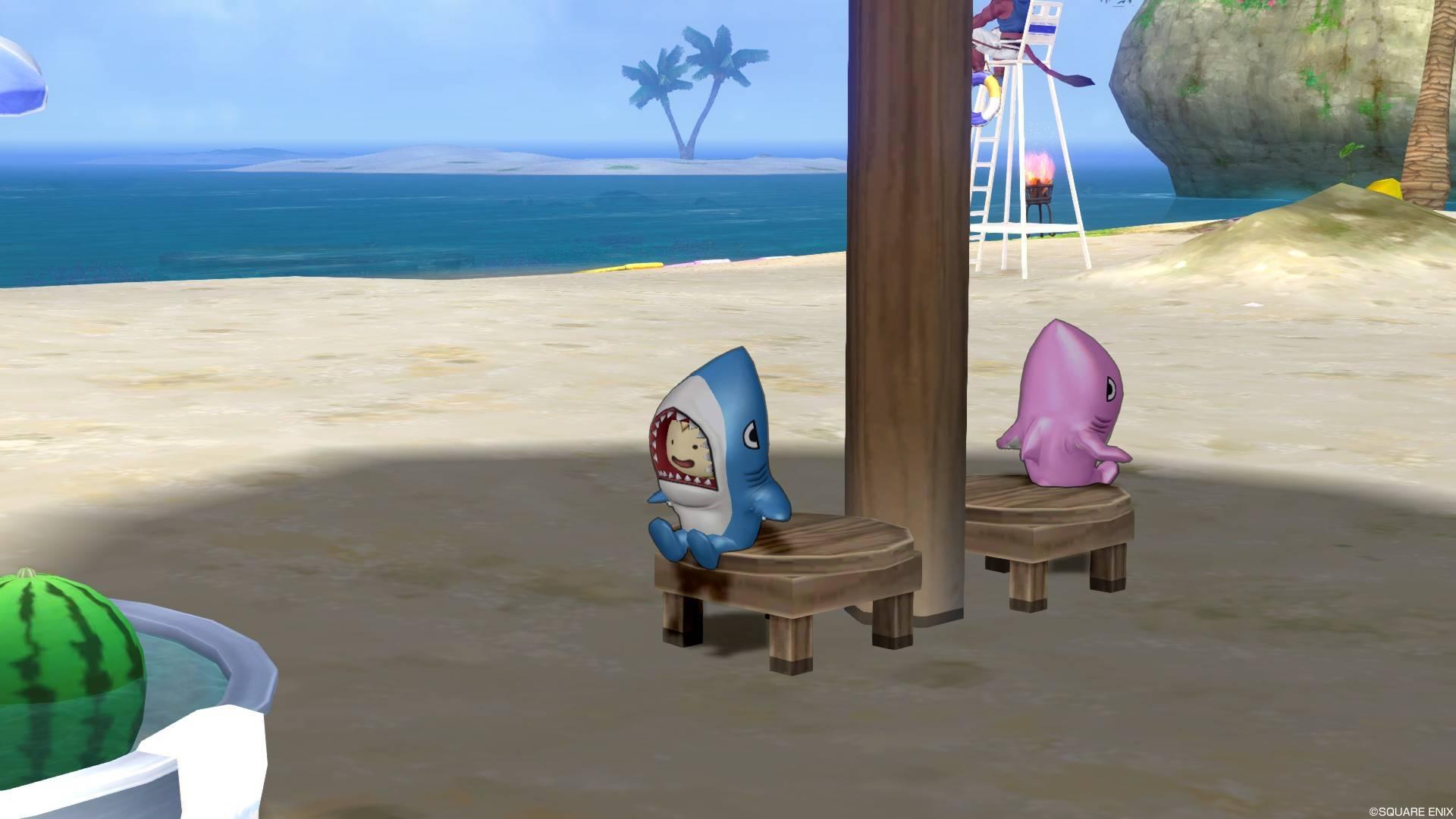 サメきぐるみ-座る